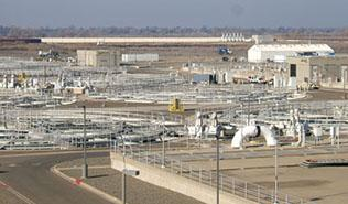 Part of the Sacramento Regional Wastewater Treatment Plant near Elk Grove
