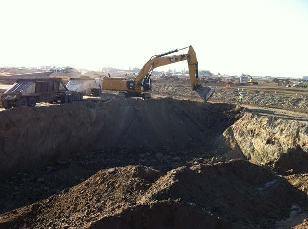 Excavation continues for the Flow Equalization storage basins (July 2015)