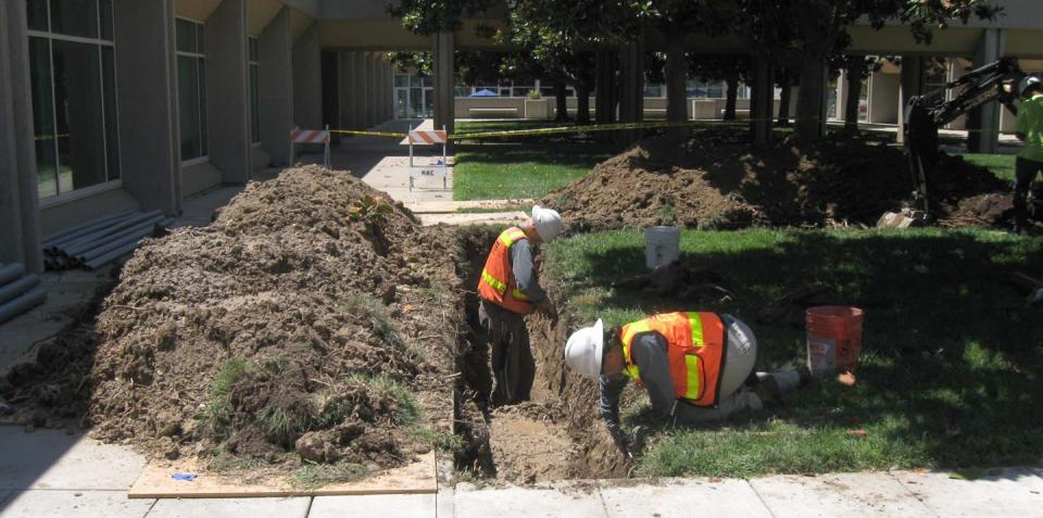 Duct bank excavation for the Fiber Optic Replacement Project (July 2015)