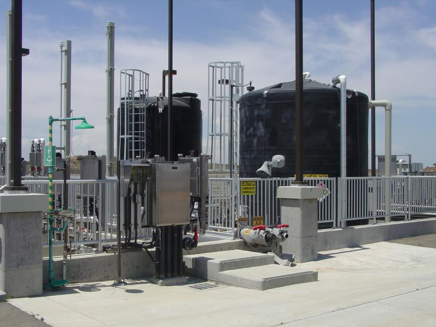 Water recycling facility at the Sacramento Regional Wastewater Treatment Plant